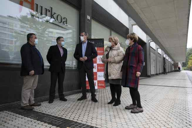 Visita de la Diputación Foral de Gipuzkoa a Hurkoa
